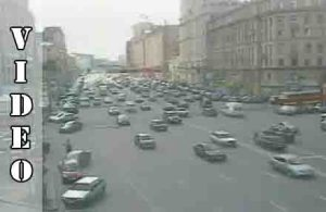 CCTV from Russia shows shocking car acidents.
